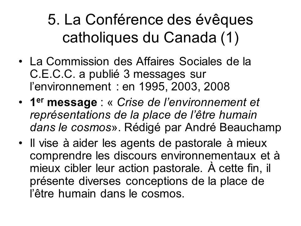 5. La Conférence des évêques catholiques du Canada (1)