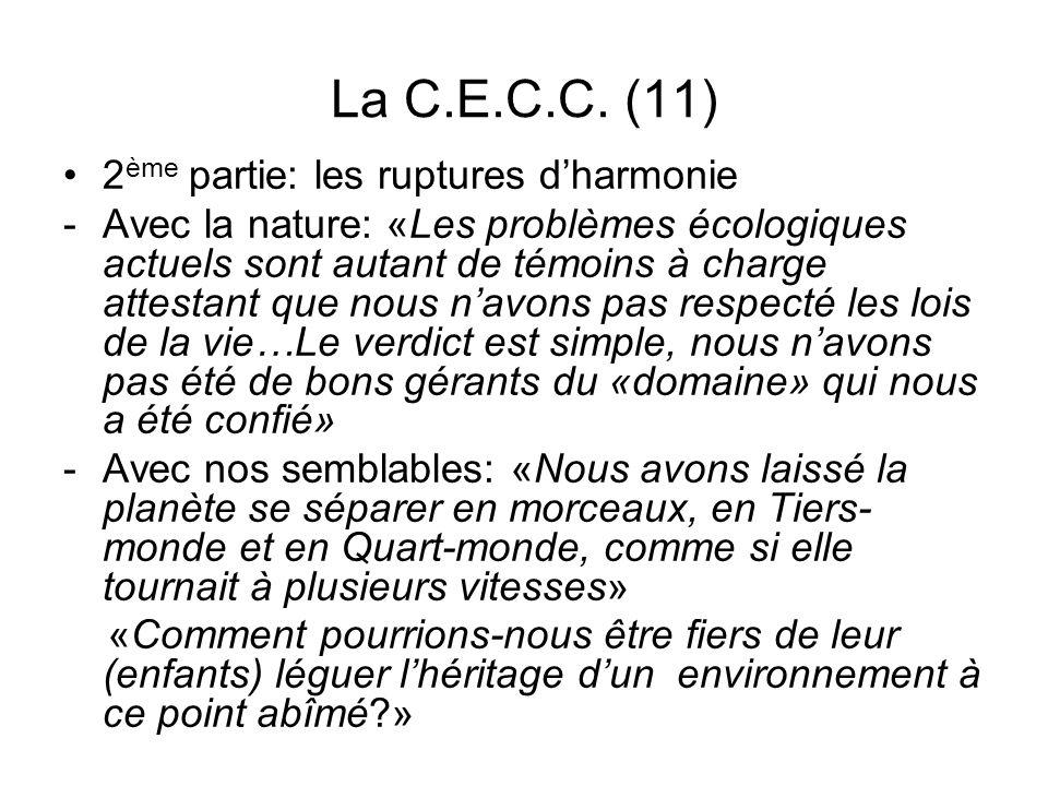 La C.E.C.C. (11) 2ème partie: les ruptures d'harmonie