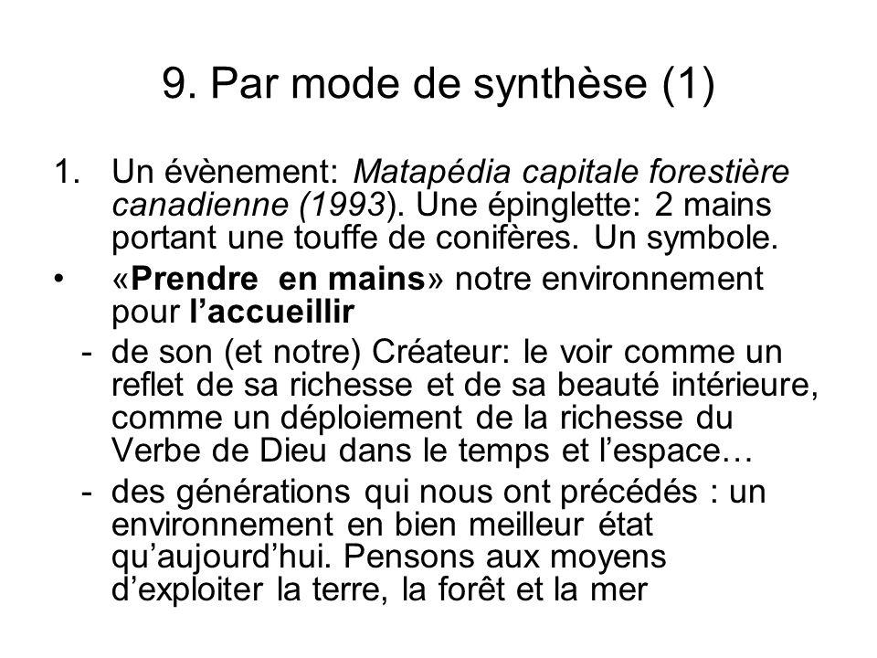 9. Par mode de synthèse (1)