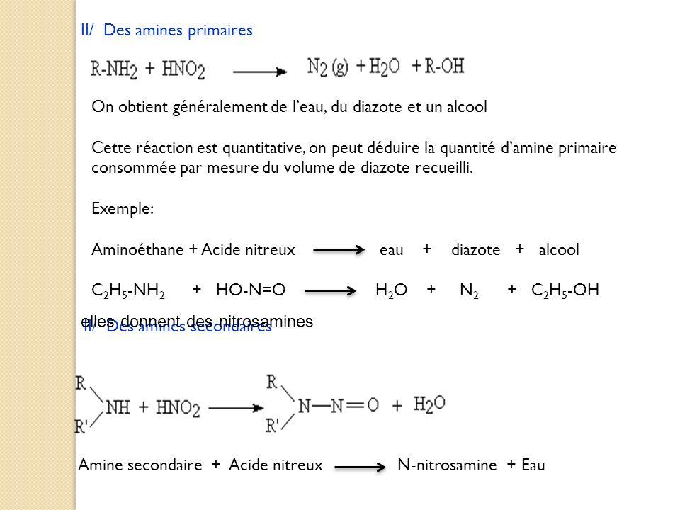 II/ Des amines primaires