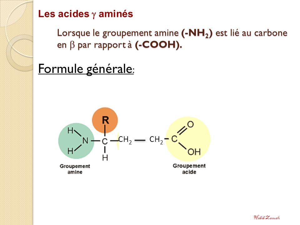 Formule générale: Les acides  aminés