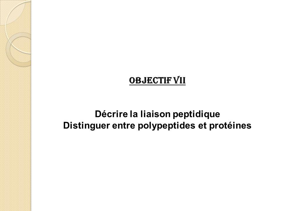 Décrire la liaison peptidique