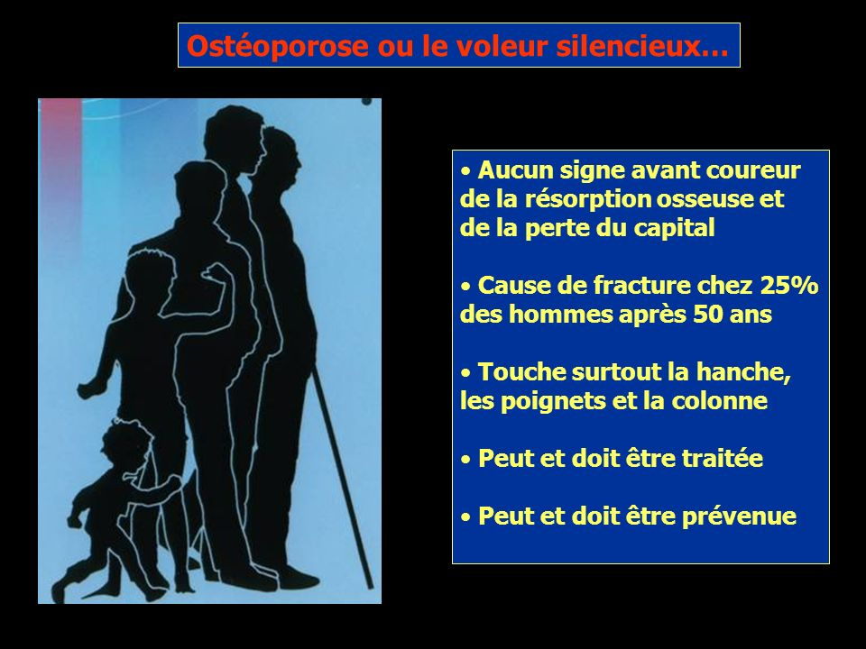 Ostéoporose ou le voleur silencieux…