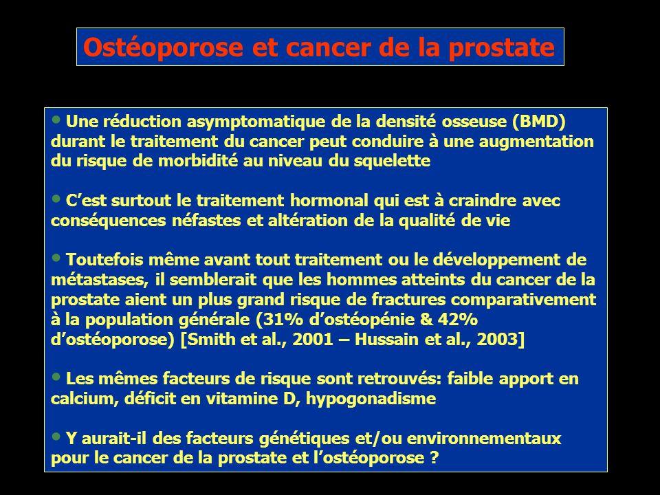 Ostéoporose et cancer de la prostate