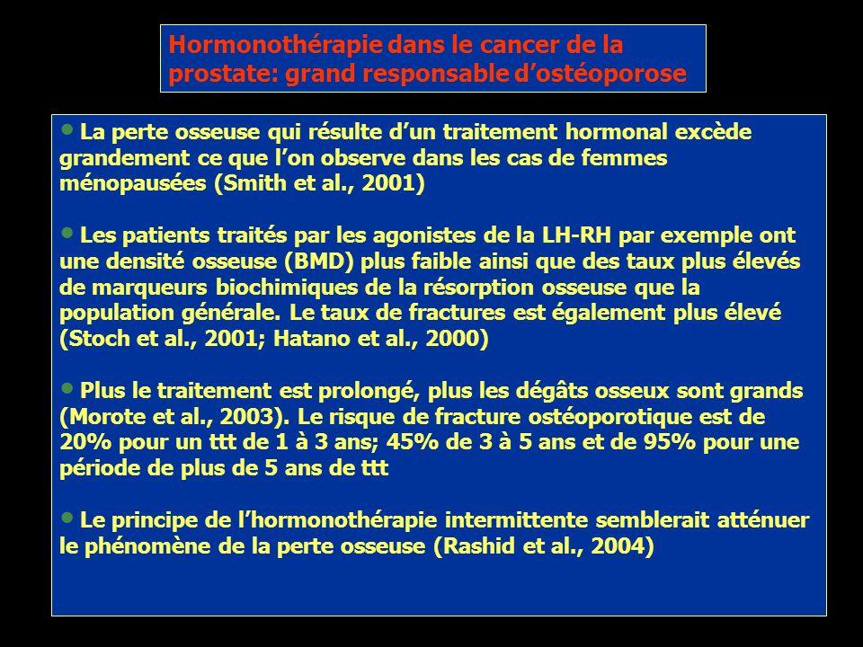 Hormonothérapie dans le cancer de la prostate: grand responsable d'ostéoporose