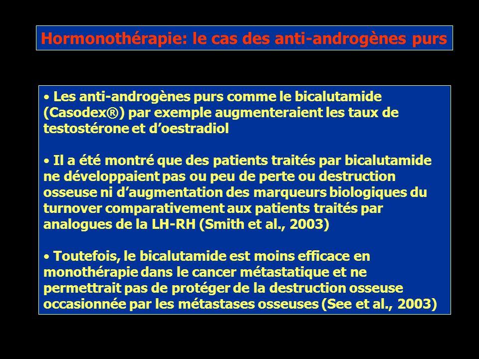 Hormonothérapie: le cas des anti-androgènes purs