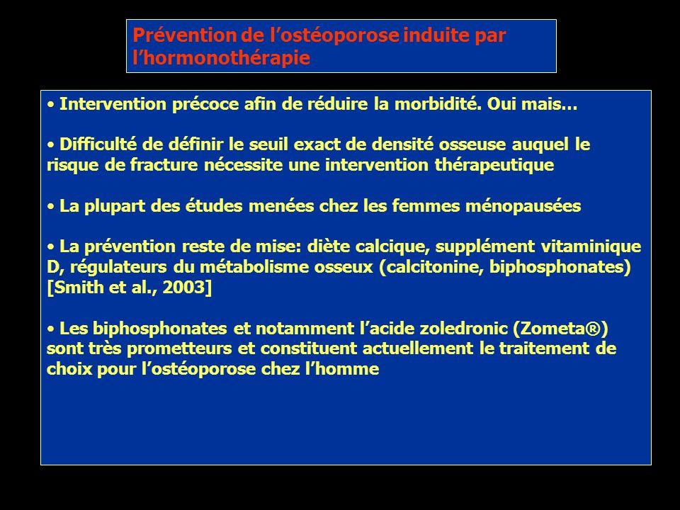 Prévention de l'ostéoporose induite par l'hormonothérapie