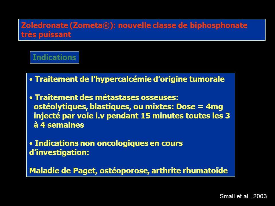 Zoledronate (Zometa®): nouvelle classe de biphosphonate très puissant