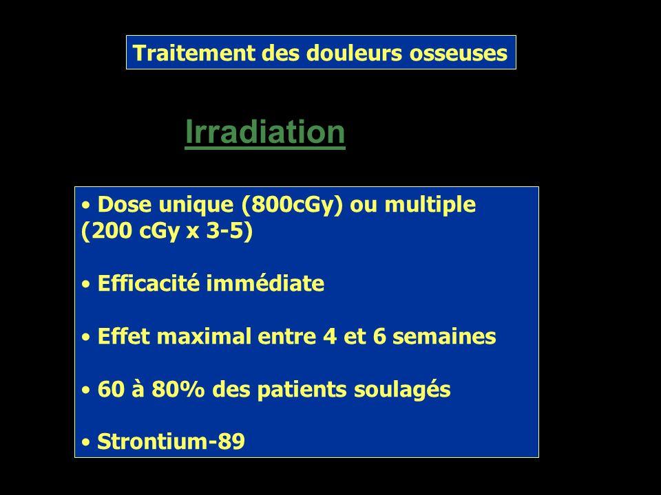 Irradiation Traitement des douleurs osseuses