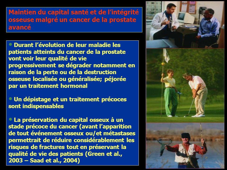 Maintien du capital santé et de l'intégrité osseuse malgré un cancer de la prostate avancé