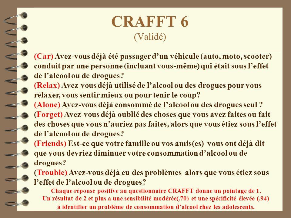 CRAFFT 6 (Validé)