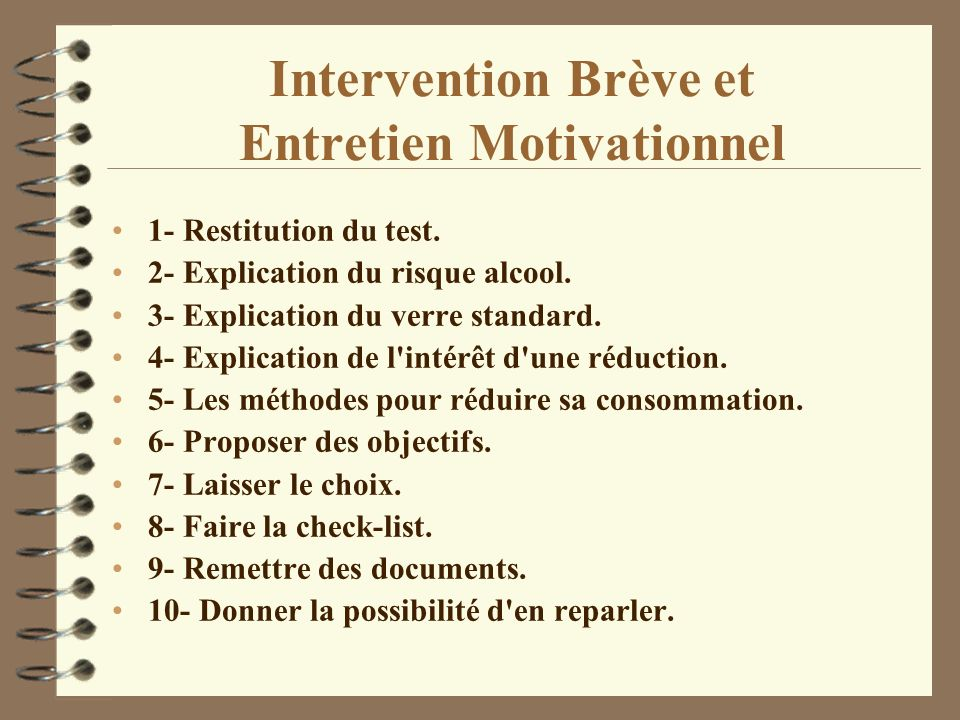 Intervention Brève et Entretien Motivationnel