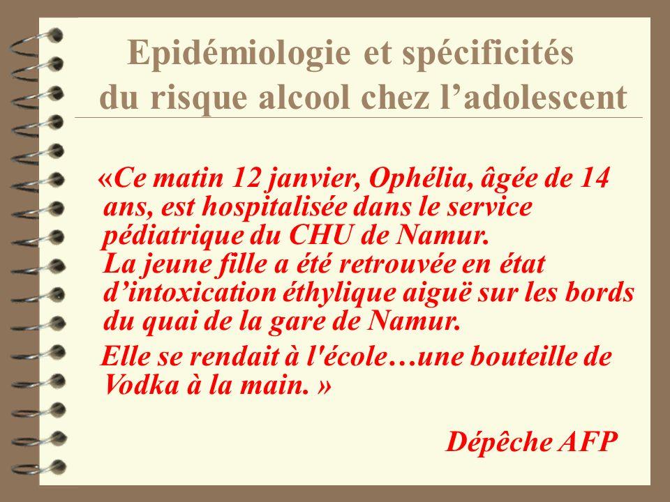 Epidémiologie et spécificités du risque alcool chez l'adolescent