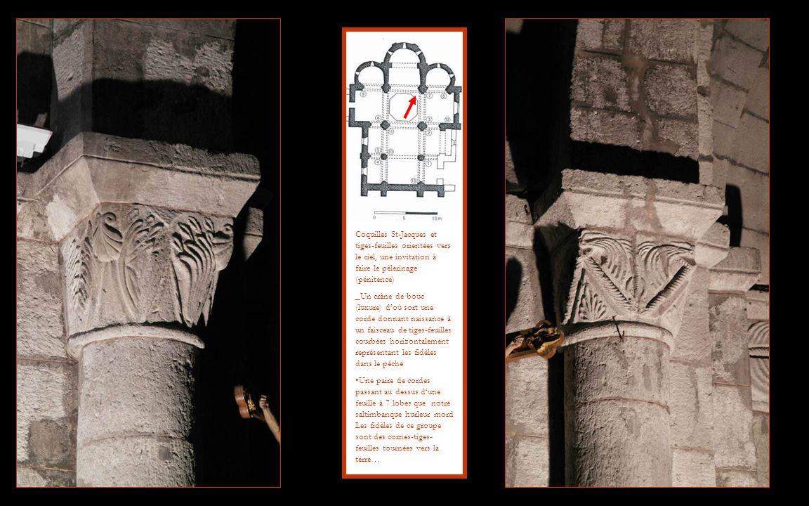 Coquilles St-Jacques et tiges-feuilles orientées vers le ciel, une invitation à faire le pèlerinage (pénitence)