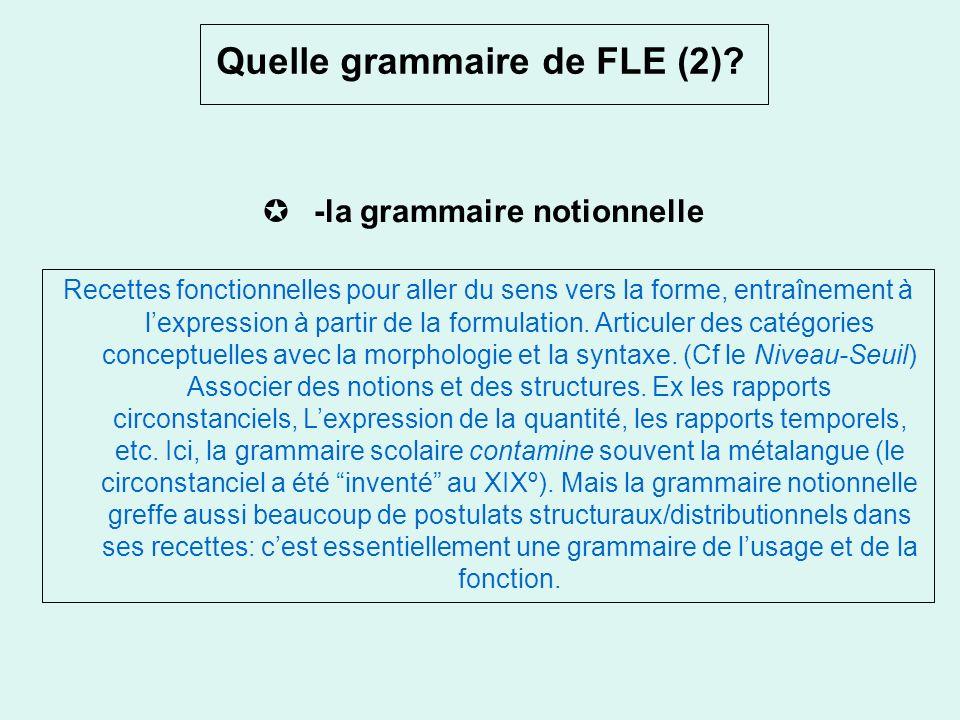 Quelle grammaire de FLE (2)