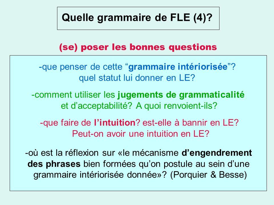 Quelle grammaire de FLE (4)