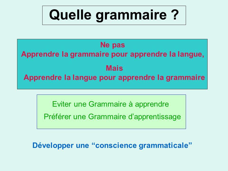 Quelle grammaire Ne pas