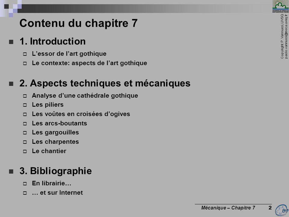 Contenu du chapitre 7 1. Introduction