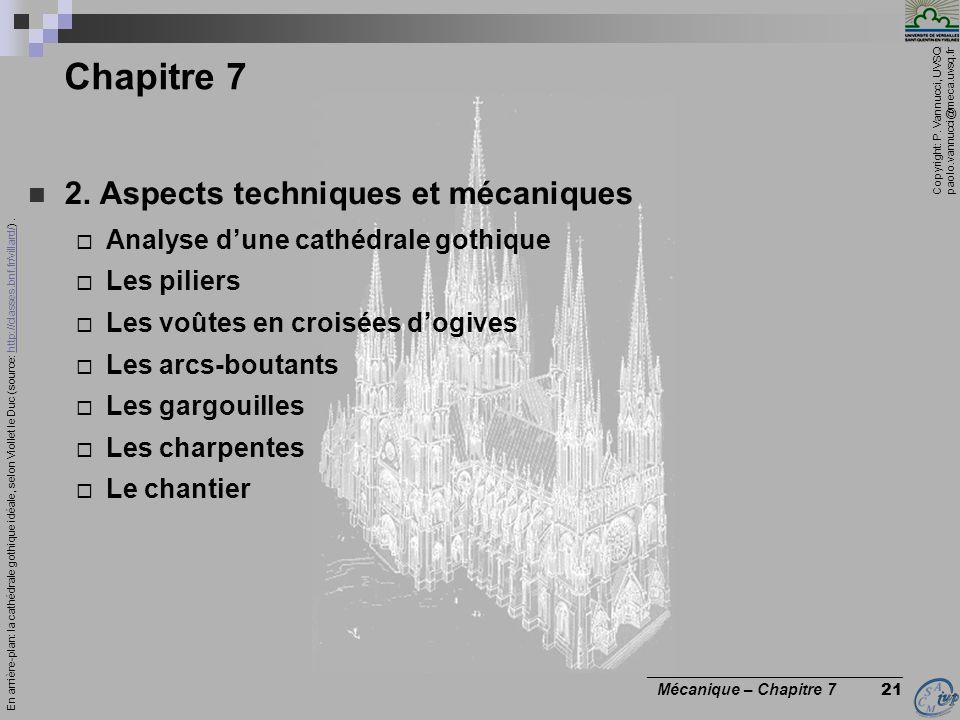 Chapitre 7 2. Aspects techniques et mécaniques
