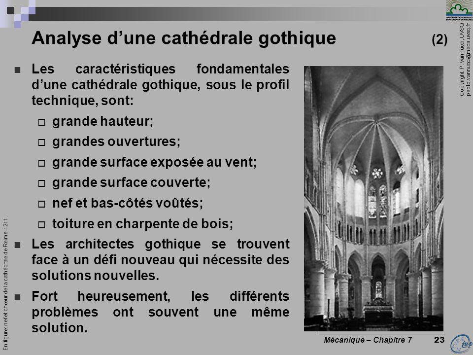 Analyse d'une cathédrale gothique (2)