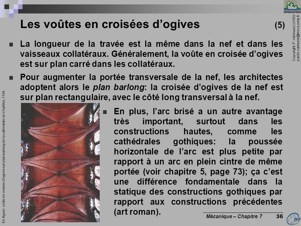 Les voûtes en croisées d'ogives (5)