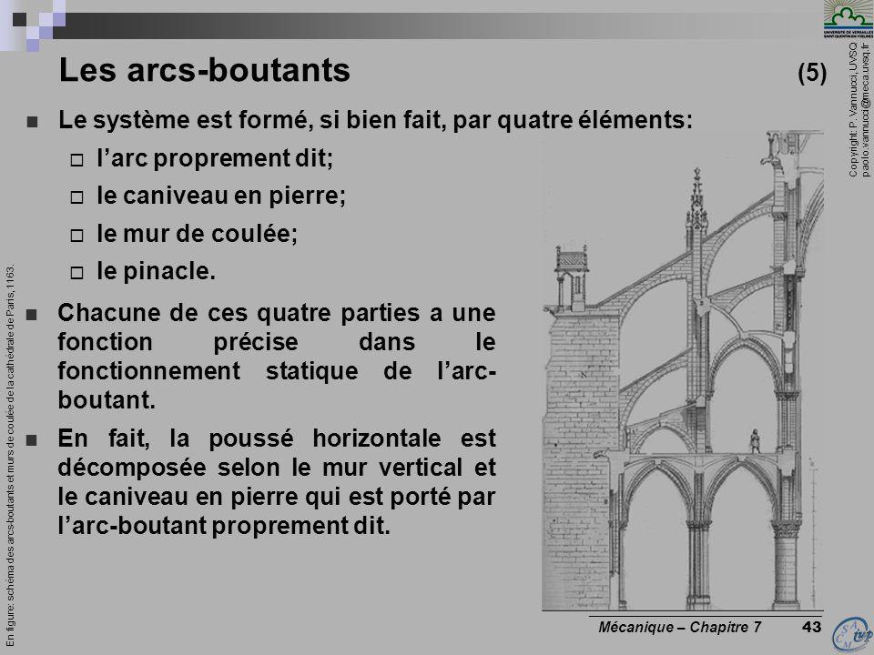 Les arcs-boutants (5) Le système est formé, si bien fait, par quatre éléments: l'arc proprement dit;