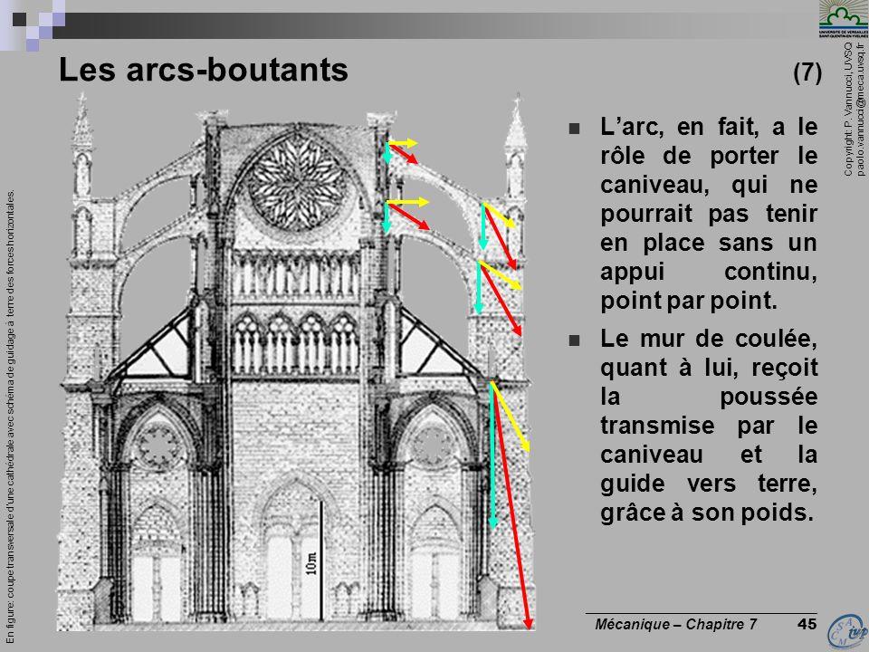 Les arcs-boutants (7) L'arc, en fait, a le rôle de porter le caniveau, qui ne pourrait pas tenir en place sans un appui continu, point par point.