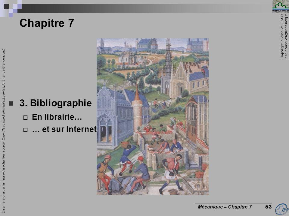 Chapitre 7 3. Bibliographie En librairie… … et sur Internet
