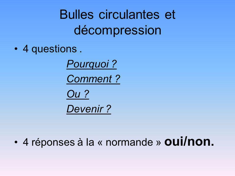 Bulles circulantes et décompression
