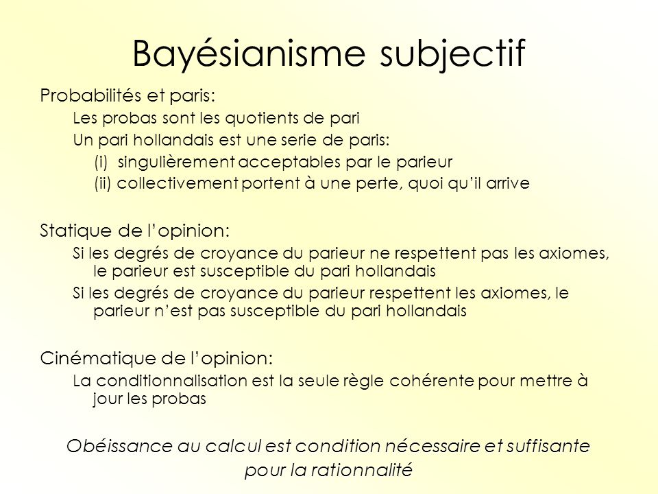 Bayésianisme subjectif