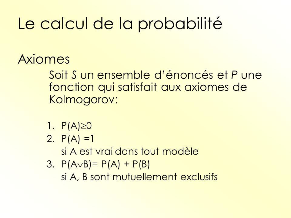Le calcul de la probabilité
