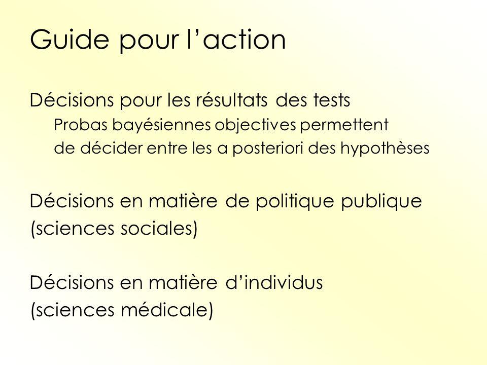 Guide pour l'action Décisions pour les résultats des tests