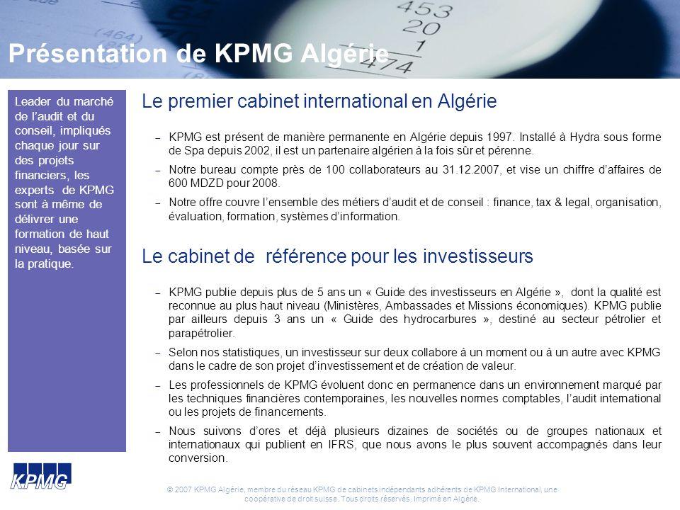 Présentation de KPMG Algérie