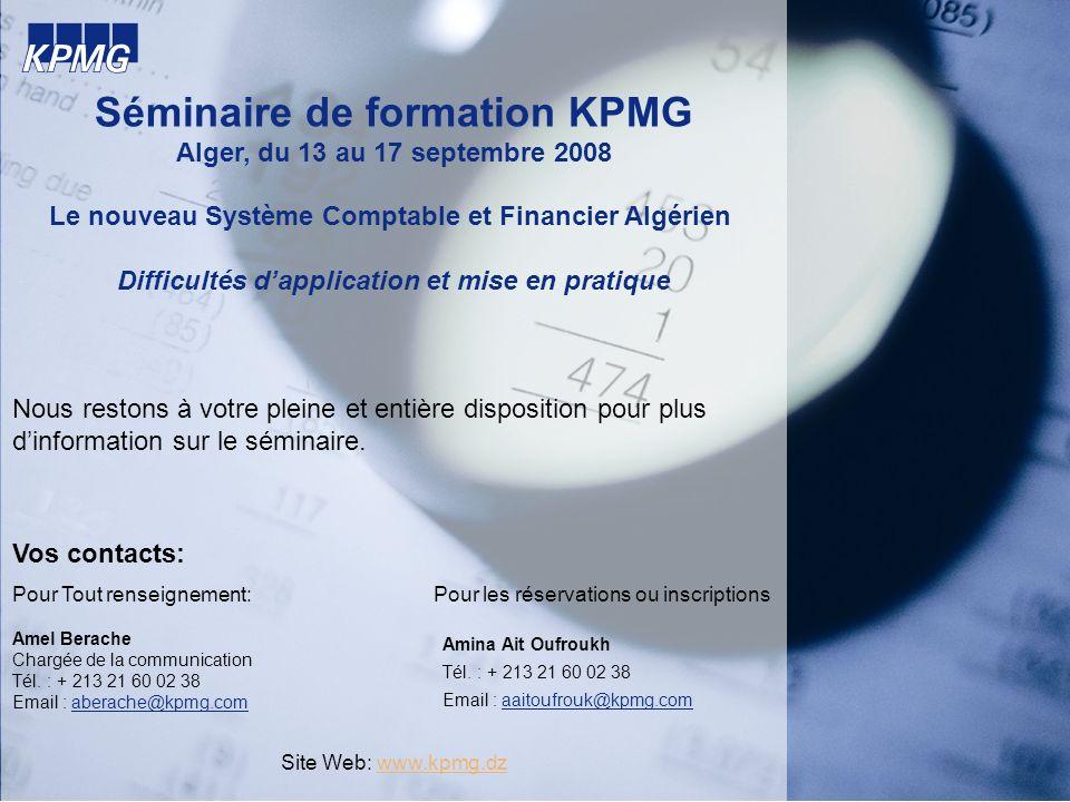 Séminaire de formation KPMG