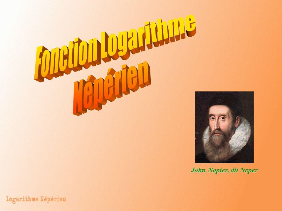 Fonction Logarithme Népérien John Napier, dit Neper