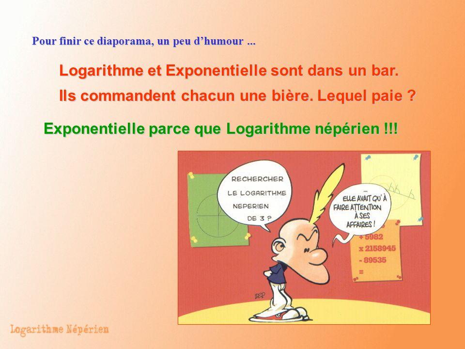 Logarithme et Exponentielle sont dans un bar.