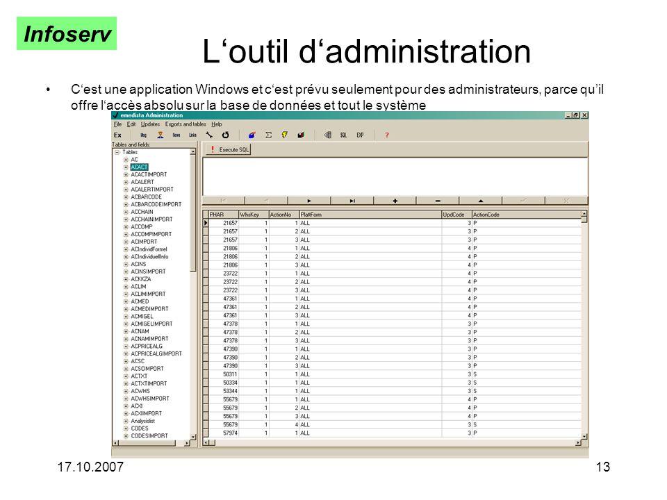 L'outil d'administration