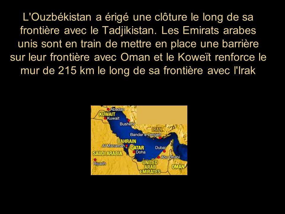 L Ouzbékistan a érigé une clôture le long de sa frontière avec le Tadjikistan.