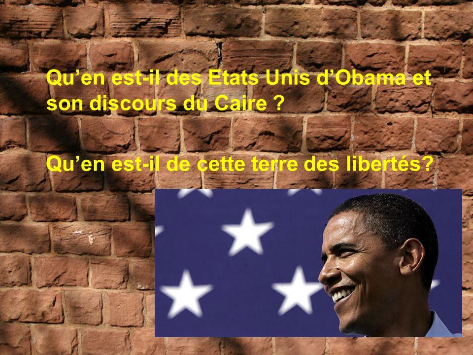 Qu'en est-il des Etats Unis d'Obama et son discours du Caire