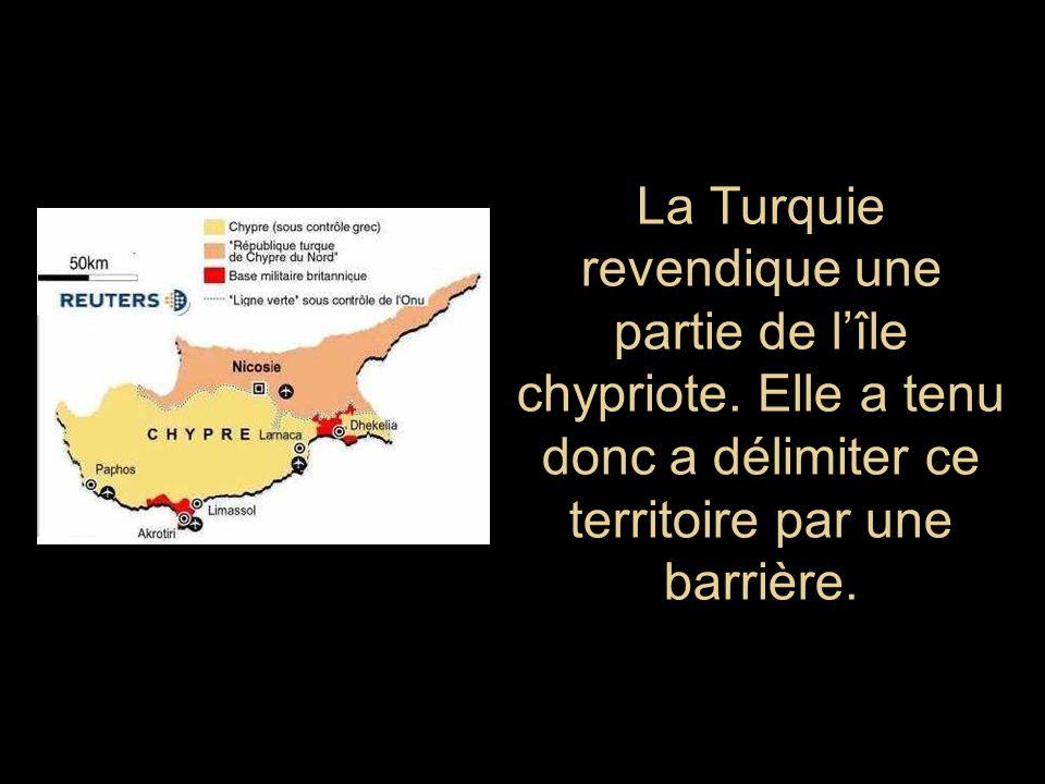 La Turquie revendique une partie de l'île chypriote