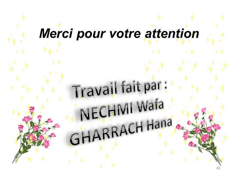 Travail fait par : NECHMI Wafa GHARRACH Hana