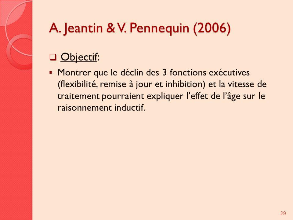 A. Jeantin & V. Pennequin (2006)
