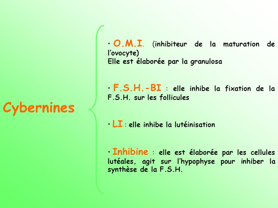 Cybernines O.M.I. (inhibiteur de la maturation de l'ovocyte)