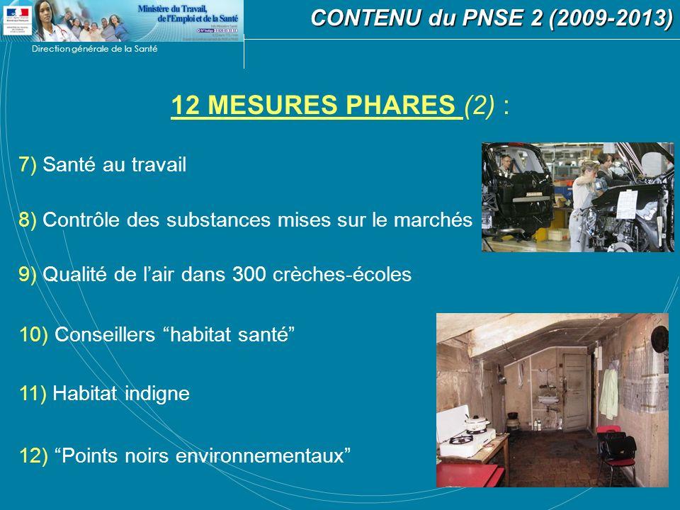 12 MESURES PHARES (2) : CONTENU du PNSE 2 (2009-2013)
