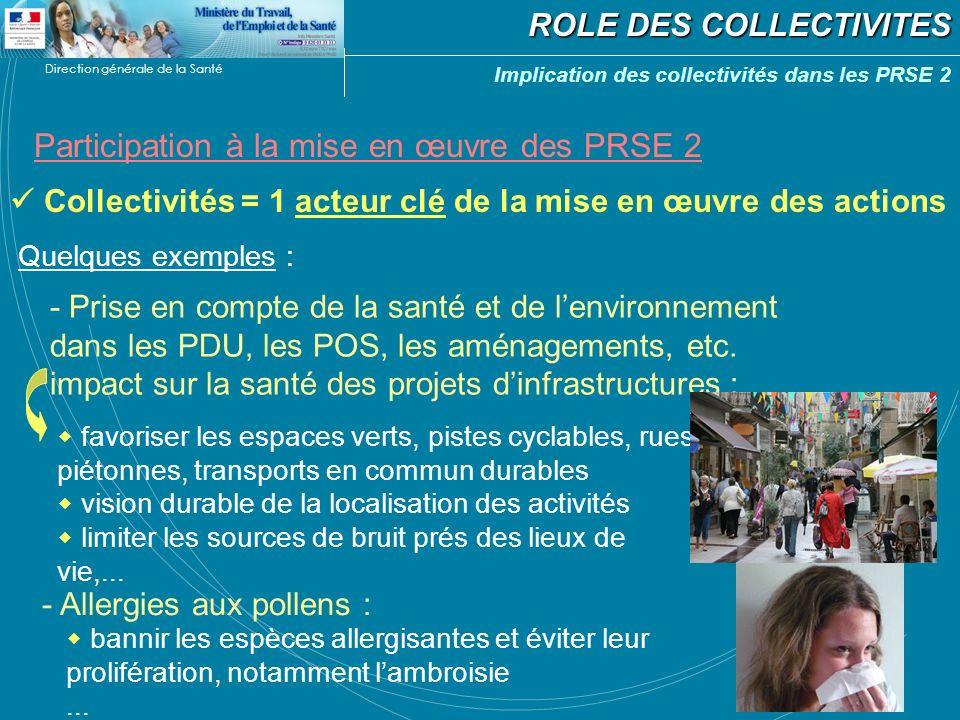 Participation à la mise en œuvre des PRSE 2