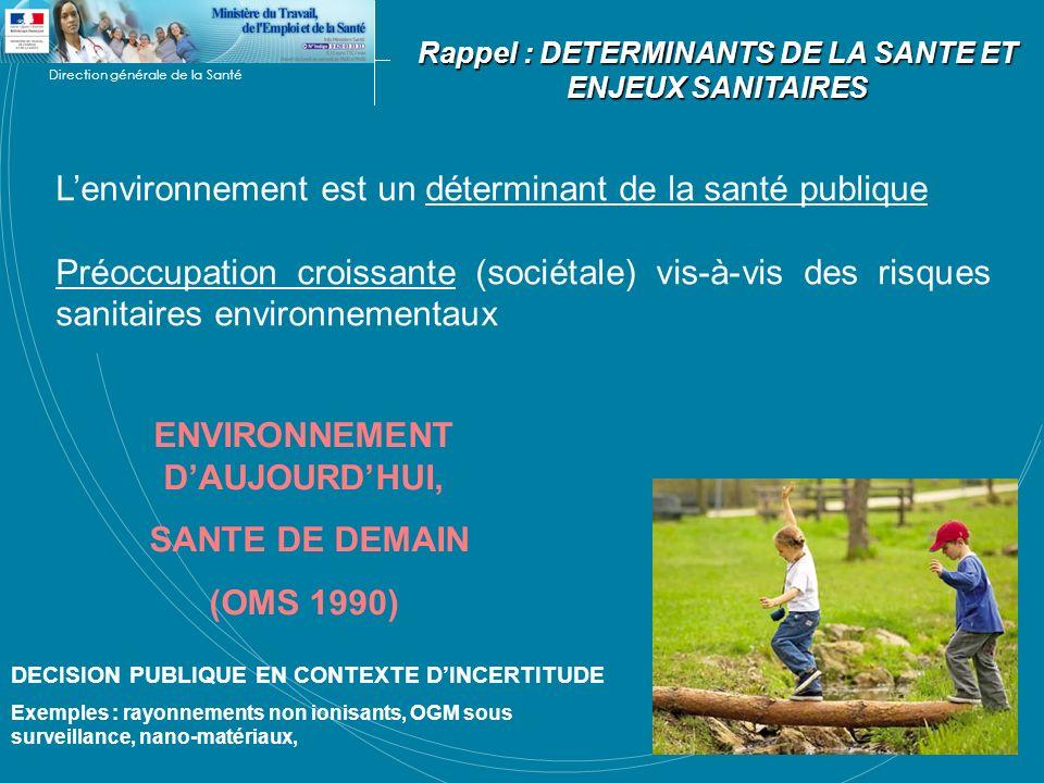 ENVIRONNEMENT D'AUJOURD'HUI, SANTE DE DEMAIN (OMS 1990)
