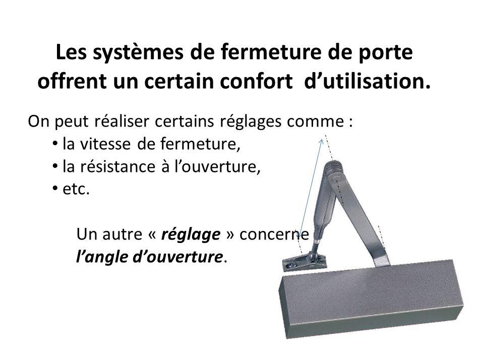 Les systèmes de fermeture de porte offrent un certain confort d'utilisation.