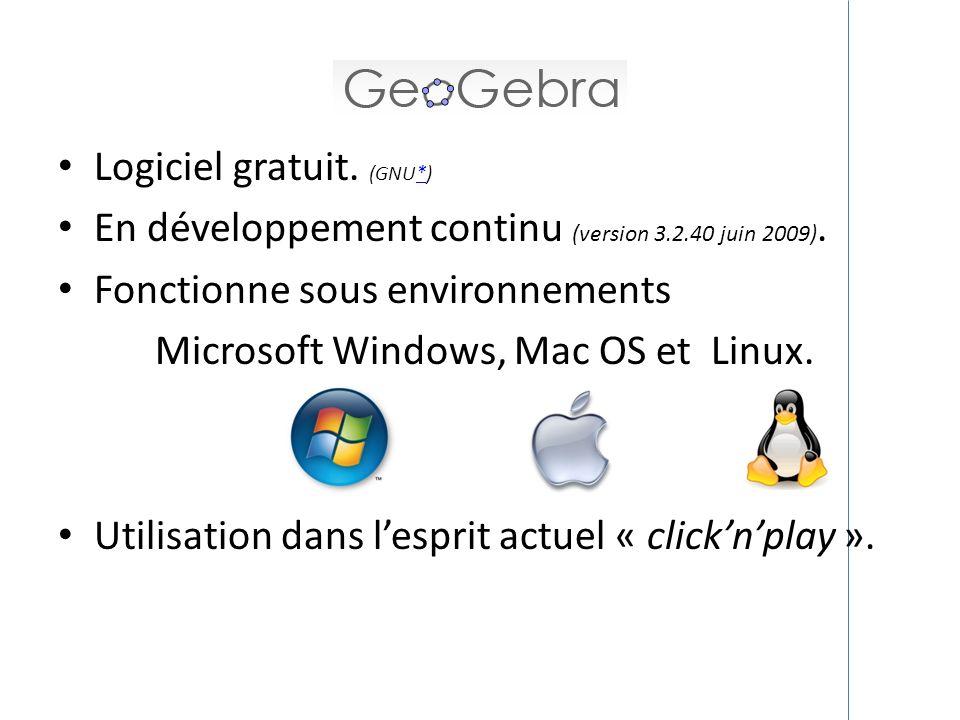 Microsoft Windows, Mac OS et Linux.