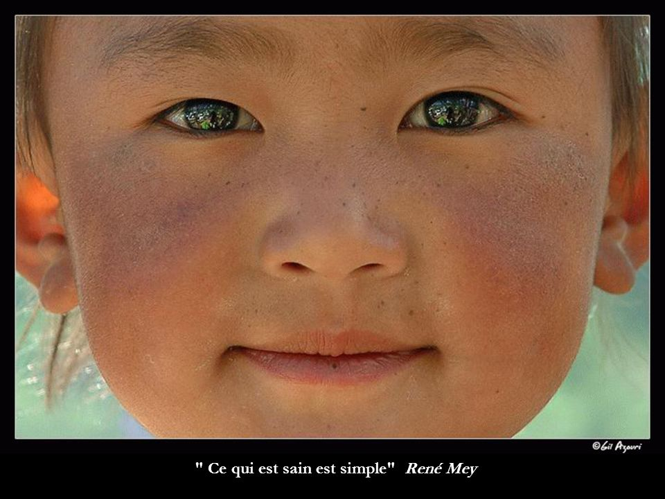 Ce qui est sain est simple René Mey