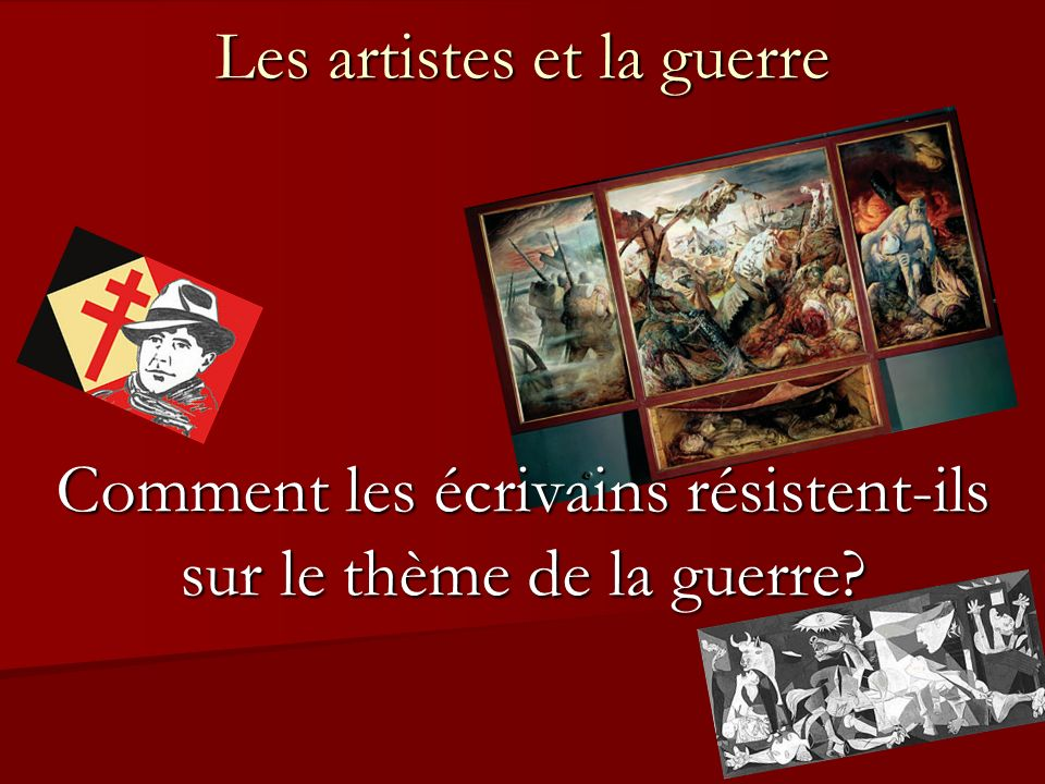 Les artistes et la guerre